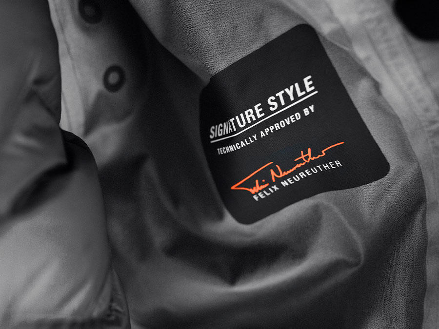Label van de Signature Style van Felix Neureuther